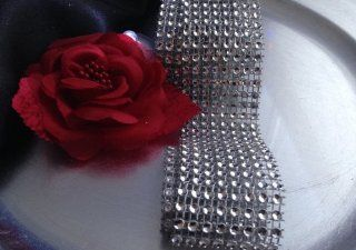 "Spring Rose(TM) Diamond Mesh Wrap(1.5"" by 30 Feet). This Ribbon Is The Perfect Item To Use For Wedding Decorations. It Can Be Used Anywhere To Adorn Votive Holders, Centerpieces, Anything You Can Imagine. Each Piece Measures 8 Rows and is A Full 30 Fe"