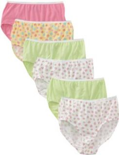 Fruit of the Loom Girls' Brief, Wardrobe, 6 pk Multicolor: Underwear: Clothing