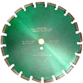 "Wet Cutting Green Concrete & Asphalt Walk behind Blade    14"" x.125: Diamond Blades: Industrial & Scientific"