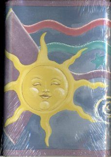 Sunworthy Self Stick Wallpaper Border   Whimsical Sun and Moon Where Both Sun and Moon Have Faces, Stars and Diamonds Are in the Background   5 Yards By 6.87 Inches