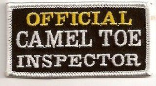 Official Camel Toe Inspector MC Club Embroidered Funny Biker Vest Patch PAT 2675: Everything Else