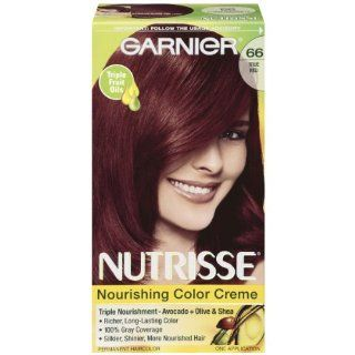 Garnier Nutrisse Haircolor, 66 True Red Pomegranate  Chemical Hair Dyes  Beauty
