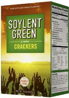 Soylent Green Crackers, 4.4 Ounce (Pack of 3) : Packaged Snack Crackers : Grocery & Gourmet Food