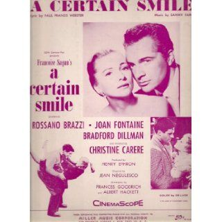 A Certain Smile (Rossano Brazzi, Joan Fontaine on Cover, Piano, Vocal, Chords In E Flat): Paul Francis Webster: Books