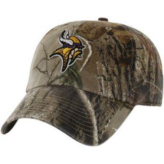 47 Brand Minnesota Vikings Clean Up Adjustable Hat   Realtree Camo