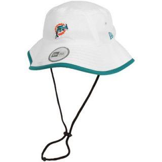New Era Miami Dolphins Training Bucket Hat   White