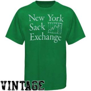 New York Jets Sack Exchange Vintage Premium T shirt   Green