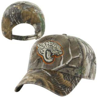 47 Brand Jacksonville Jaguars Clean Up Adjustable Hat   Realtree Camo/Gold