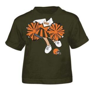 Cleveland Browns Toddler Girls Dream Job T Shirt   Brown