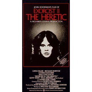 Exorcist II   The Heretic [VHS]: Richard Burton, Linda Blair, Louise Fletcher, Max von Sydow, Kitty Winn, Paul Henreid, James Earl Jones, Ned Beatty, Belinda Beatty, Rose Portillo, Barbara Cason, Tiffany Kinney, William A. Fraker, John Boorman, Charles Orm