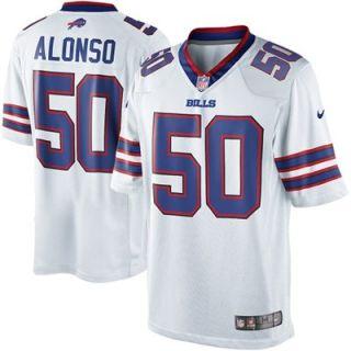 Mens Nike Kiko Alonso White Buffalo Bills Limited Jersey