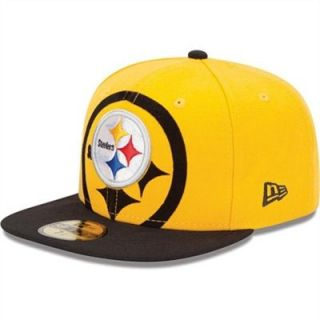 New Era Pittsburgh Steelers Over Flock 59FIFTY Structured Fitted Hat ... 599372813