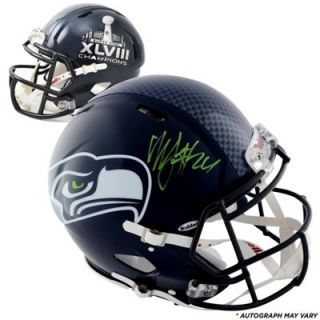 Riddell Marshawn Lynch Seattle Seahawks Super Bowl XLVIII Champions Autographed Pro Line Authentic Helmet
