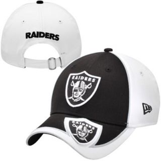 New Era Oakland Raiders Nunopus 9FORTY Adjustable Hat   Black/White
