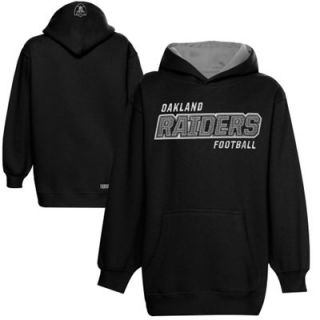 Oakland Raiders Youth Gridiron Pullover Hoodie   Black