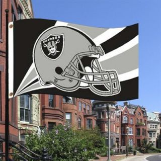 Oakland Raiders 3 x 5 Team Helmet Field Flag