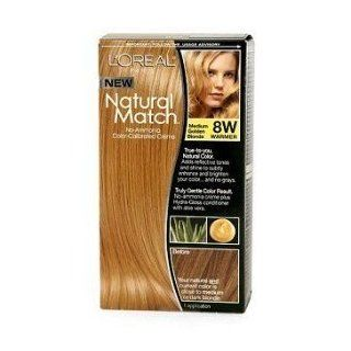 L'Oreal Natural Match Hair Colour, Medium Golden Blonde : Hair Highlighting Products : Beauty