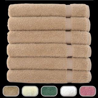Luxury Hotel & Spa Towels   100% Turkish Cotton & Made in Turkey (Taupe, Hand Towel   Qty 6)   Bath Towels