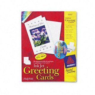 AVE3265   Personal Creations Ink Jet White 1/2 Fold Cards/Envs. : Greeting Cards : Office Products