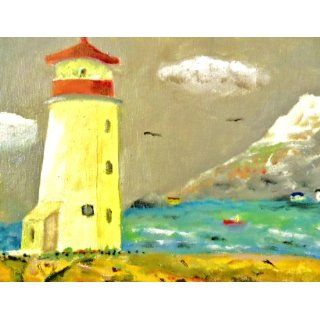 Art: Lighthouse at Peggy's Cove, Nova Scotia : Painting : william london