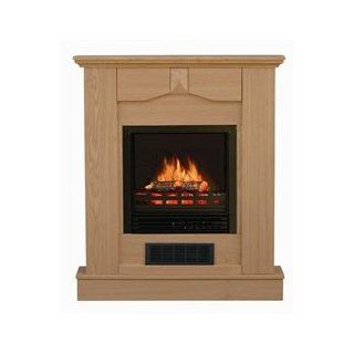 Stonegate� Oak Finish Mantle Electric Fireplace   Ventless Fireplaces