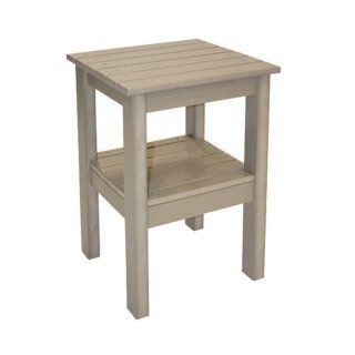 Recycled Plastic End Table  Patio, Lawn & Garden