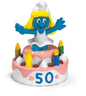 Schleich The Smurfs Mini Figure Surprise Smurfette: Toys & Games