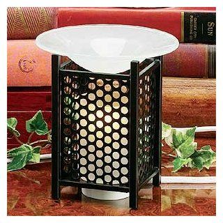 """Electric Essential Oils Fragrance Oils Diffuser Burner w/ Free One Bottle(1/2 Fl.oz) Random Fragrance Oil  Mesh, Round Design and Gorgeous Frost Glass Top,35 Watt Halogen Bulb with Touch Dimmer Switch , 5"""" H, The Most High End Quality in The Market,Su"""