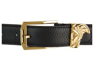Versace Collection Printed Elk Gold Medusa Buckle Belt