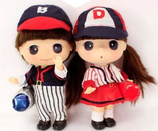 "Ddung & Bong gu 7"" Baseball Coupleⅰ Cute Doll Figure Collectible Toy Girl Kawaii Best Gift for Everyone Ship Worldwide: Toys & Games"