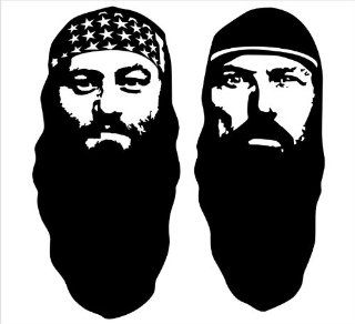 "Duck Brothers Duck Dynasty Facial Silhouettes Duck Commanders Decal Sticker Laptop, Notebook, Window, Car, Bumper, EtcStickers 5.6""x6""in. in BLACK Exterior Window Sticker with Free Shipping: Everything Else"