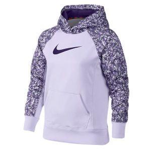 Nike KO 2.0 OTH AOP Hoodie   Girls Grade School   Training   Clothing   Violet Frost/Court Purple