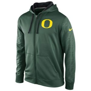 Nike College KO ThermaFit Full Zip Hoodie   Mens   Football   Clothing   Oregon Ducks   Green