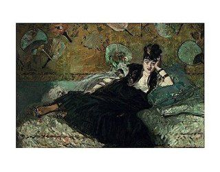 La Dame aux Eventails   Nina de Callias, 1873 74 Poster Print by Edouard Manet (14 x 11)   Prints