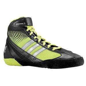 adidas Response 3.1   Mens   Wrestling   Shoes   Black/Electricity/Metallic Silver