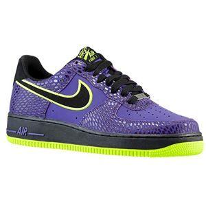 c21b8680183 Nike Air Force 1 Low Mens Basketball Shoes Court Purple Black Volt ...