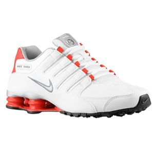 Nike Shox NZ   Mens   Running   Shoes   White/Met Silver/Cool Grey/Black/Challenge Red