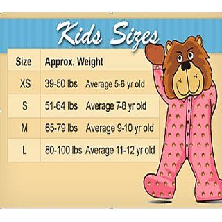 Big Feet Pjs Kids Pink Fleece Footed Pajamas: Clothing