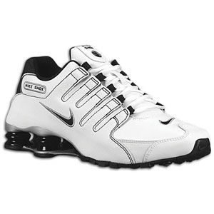 Nike Shox NZ   Mens   Running   Shoes   White/Black/Metallic Silver