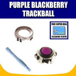 Purple Blackberry Trackball / Joystick / Navigate / Pearl / Ring Repair Replacement Fix Fixing for Rim Blackberry Pearl 8100 8130 Curve 8300 8310 8320 8800 8820 8830 Plus Opening Tool with Exclusive FREE Complimentary Super Deal Micro Fiber Cleaning Cloth