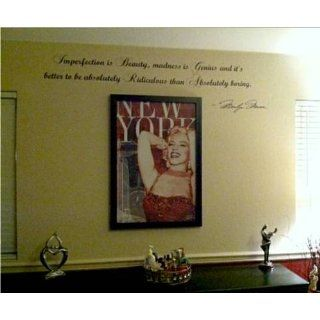 Marilyn Monroe Imperfection Is Beauty Wall Decal Decor QuoteLarge Nice   Other Products