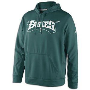 Nike NFL Sideline KO Therma Fit Hoodie   Mens   Football   Clothing   Philadelphia Eagles   Sport Teal