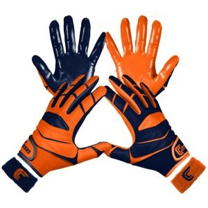 Cutters Yin Yang X40 Receiver Gloves   Mens   Football   Sport Equipment   Navy/Orange
