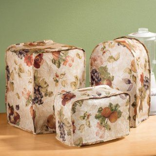 """Antique Fruit Appliance Vinyl Cover, 4 Slice Toaster Cover   Square  11"""" X 10"""" X 9""""   Kitchen Storage And Organization Product Accessories"""