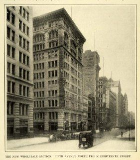 1907 Print New York City Wholesale District Fifth Ave 18th St. View Architecture   Original Halftone Print