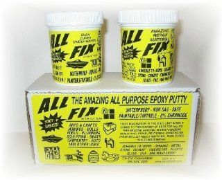 All Fix Epoxy Putty Kit 12 Ounce Set   Arts & Crafts Jewelry Design   Sculpting   Moldeling   Underwater Epoxy   Repair & Restoration   All Fix By Cir Cut Corporation   The All Purpose Epoxy Repair Material   1001 Uses !