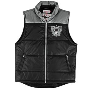 Mitchell & Ness NFL Winning Team Vest   Mens   Football   Clothing   Oakland Raiders   Black