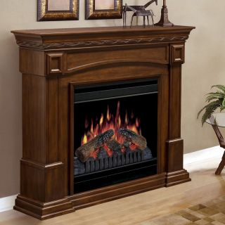 Dimplex Colonial Walnut Electric Fireplace   Electric Fireplaces