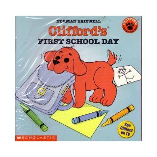 Set of 5 Clifford Books Clifford's First School Day, Clifford's Word Book, Clifford Takes a Trip, Clifford the Small Red Puppy, Clifford Goes to Hollywood (Clifford the Big Red Dog) Books