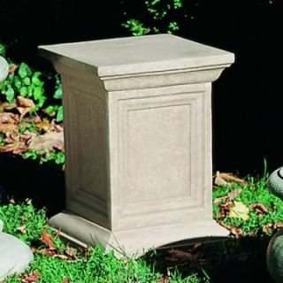 Campania International Square Cast Stone Pedestal For Urns and Statues   Garden Decor